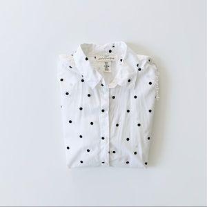 H&M Logg Button Down Polka Dot Shirt